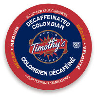 Timothys Colombian Decaf Coffee K-Cup